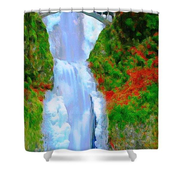 Bridge Over Beautiful Water Shower Curtain