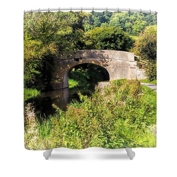 Bridge Over Still Waters Shower Curtain