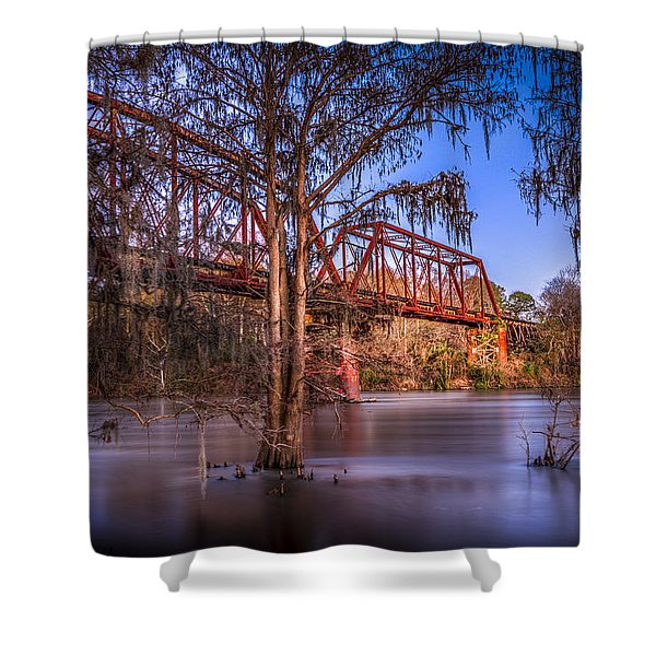 Bridge Over Trouble Water Shower Curtain