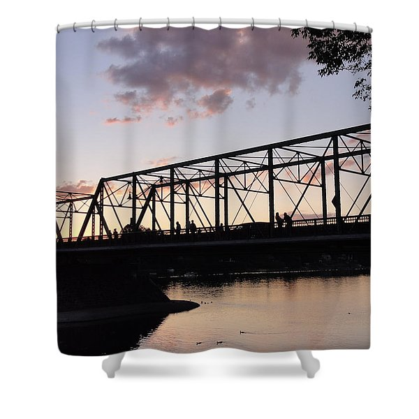 Bridge Scenes August - 1 Shower Curtain