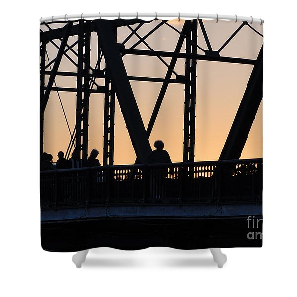 Bridge Scenes August - 2 Shower Curtain