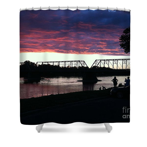 Bridge Sunset In June Shower Curtain