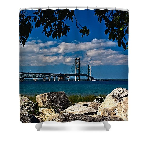 Bridge To The U.p. Shower Curtain