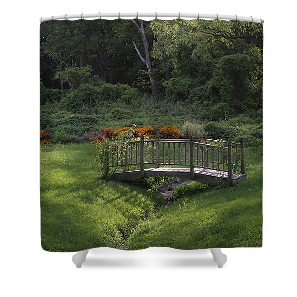 Bridge To Tranquility  Shower Curtain