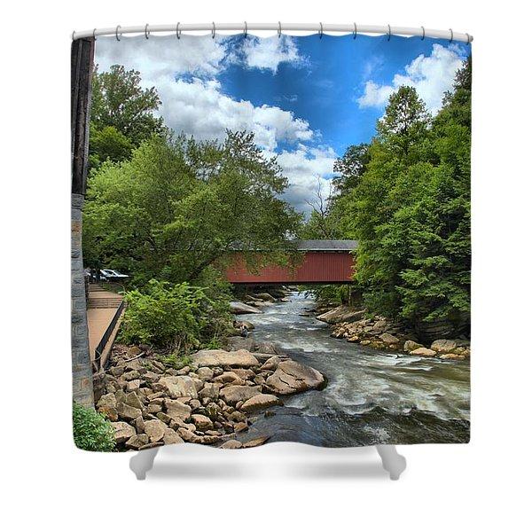 Bridging Slippery Rock Creek Shower Curtain