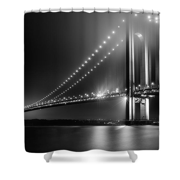 Bridging Verrazano Narrows Shower Curtain
