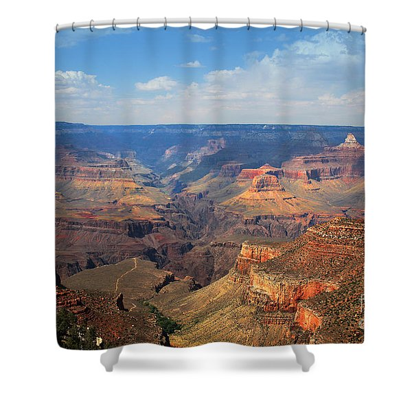 Shower Curtain featuring the photograph Bright Angel Trail Grand Canyon National Park by Jemmy Archer