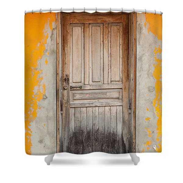 Brightly Colored Door And Wall Shower Curtain