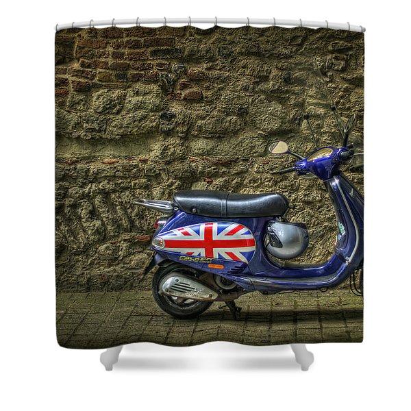 British At Heart Shower Curtain