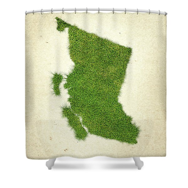 British Columbia Grass Map Shower Curtain
