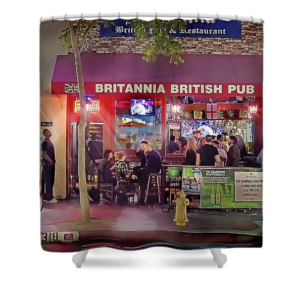 British Pub Shower Curtain