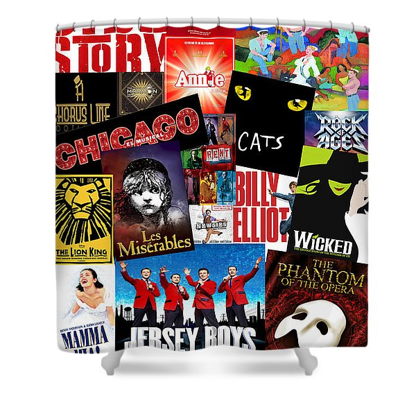 Broadway 1 Shower Curtain