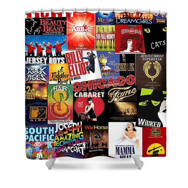 Broadway 4 Shower Curtain
