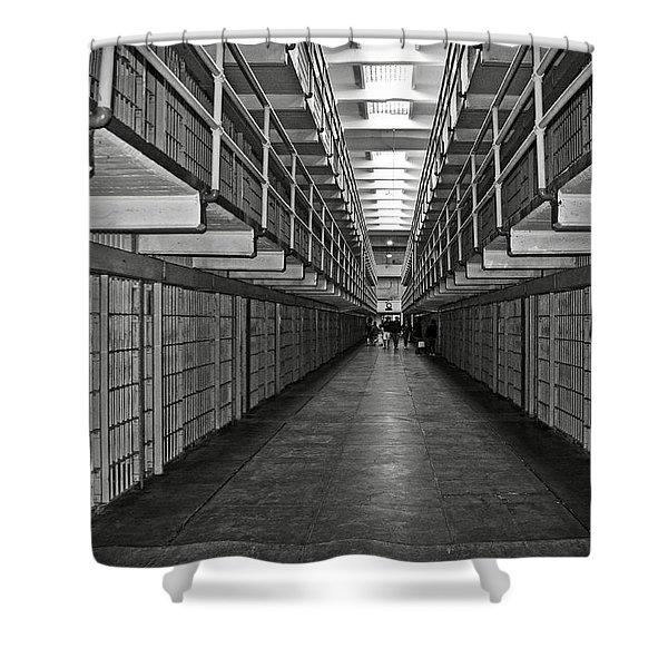 Broadway Walkway In Alcatraz Prison Shower Curtain