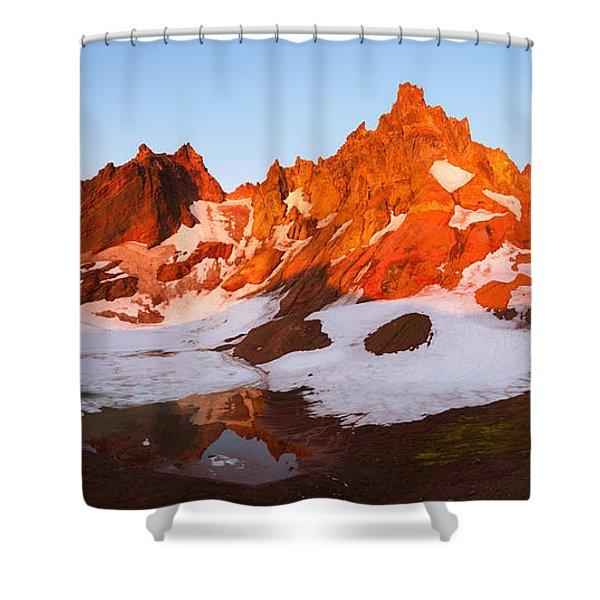 Broken Top Mt. Sunrise Shower Curtain