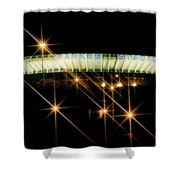 Bronx Night  Iv Yankee Stadium Shower Curtain