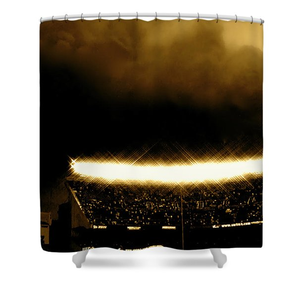 Bronx Storm Yankee Stadium  Shower Curtain