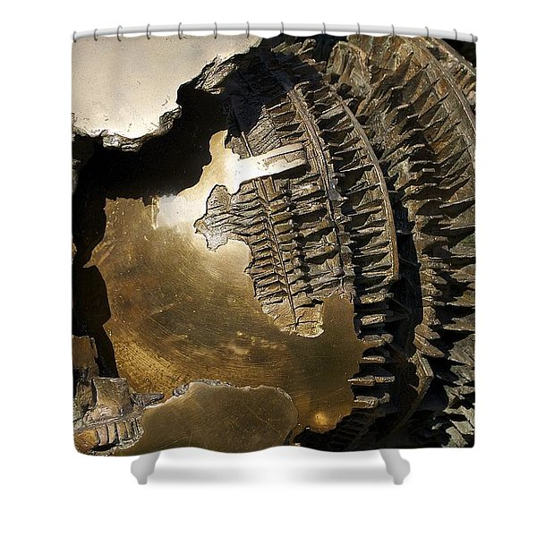 Bronze Abstract Shower Curtain