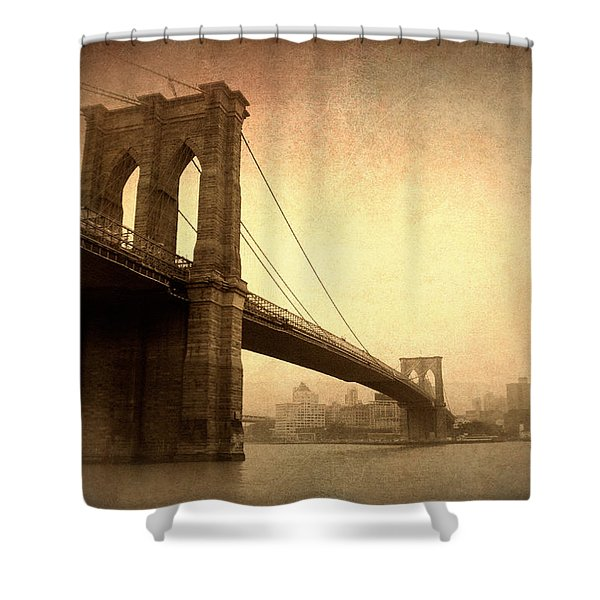 Brooklyn Bridge Nostalgia II Shower Curtain
