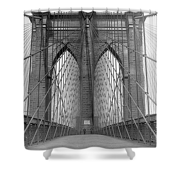 Brooklyn Bridge Promenade Shower Curtain