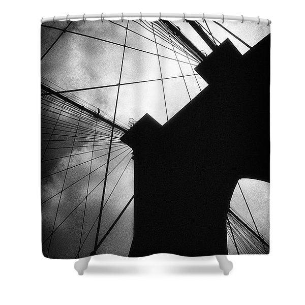 Brooklyn Bridge Silhouette Shower Curtain