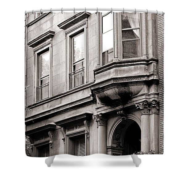 Brooklyn Heights -  N Y C - Classic Building And Bike Shower Curtain