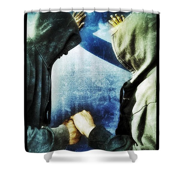 Brothers Keeper Shower Curtain