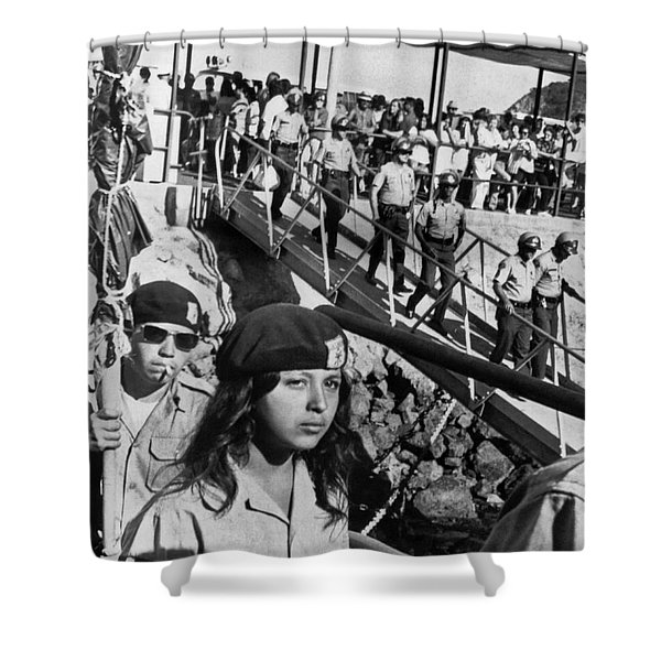 Brown Berets Leave Catalina Shower Curtain