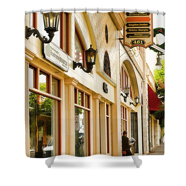 Brown Bros Building Shower Curtain