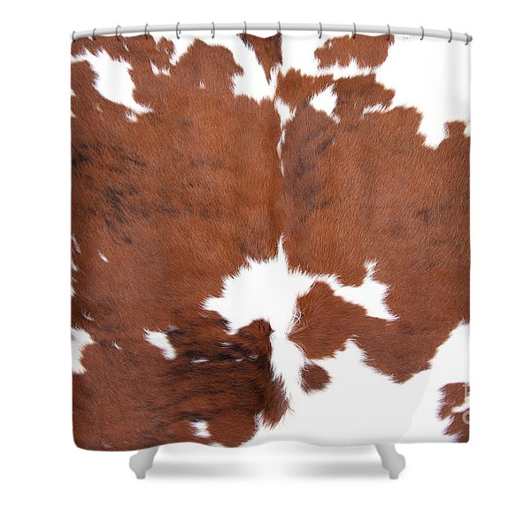 Shower Curtain featuring the photograph Brown Cowhide by Gunter Nezhoda