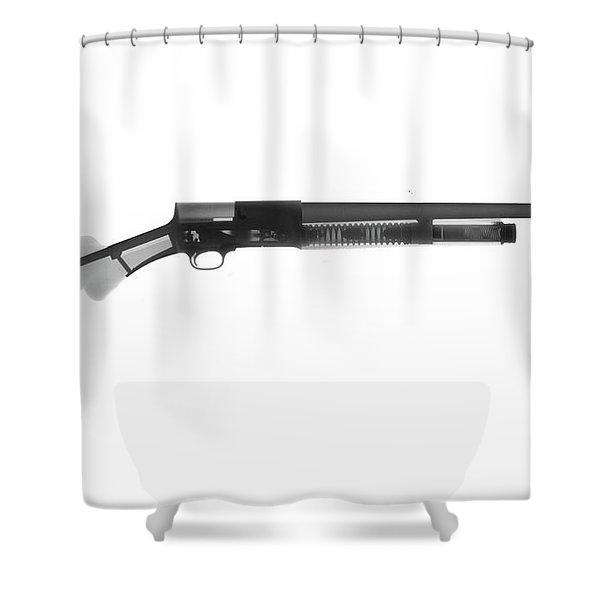 Browning Fn A5 Shotgun X-ray Photograph Shower Curtain
