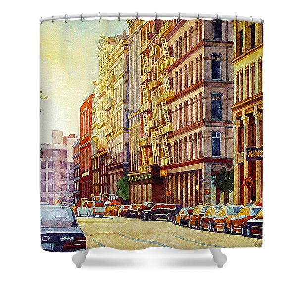 Brownstone Sunset Shower Curtain