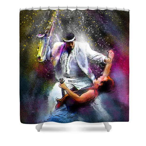 Bruce Springsteen And Clarence Clemons Shower Curtain