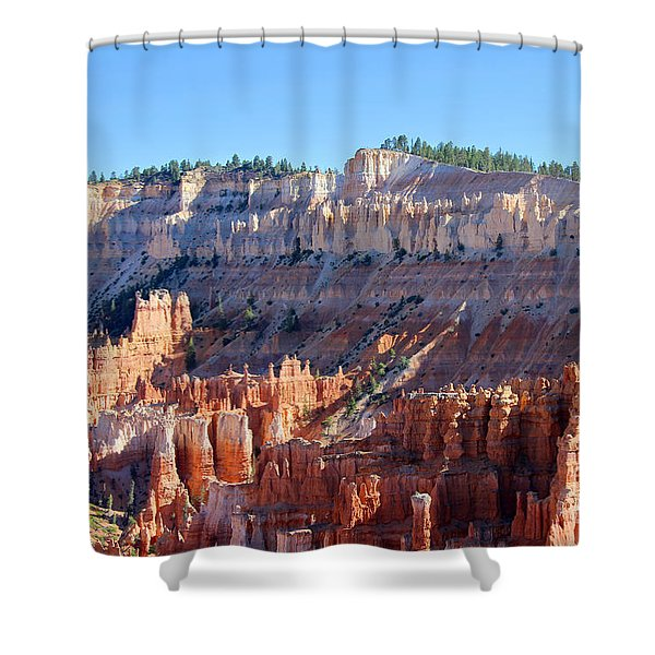 Shower Curtain featuring the photograph Bryce Amphitheater by Jemmy Archer
