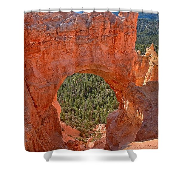 Bryce Pink Arch Shower Curtain
