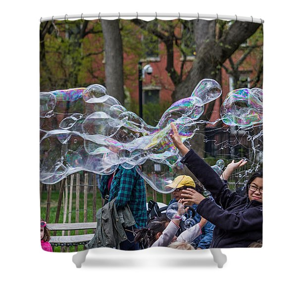Bubble Attack Shower Curtain