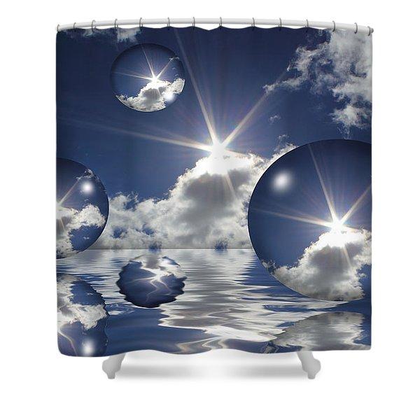 Bubbles In The Sun Shower Curtain
