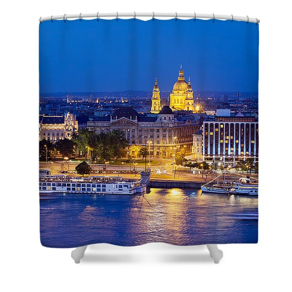 Budapest At Night Shower Curtain
