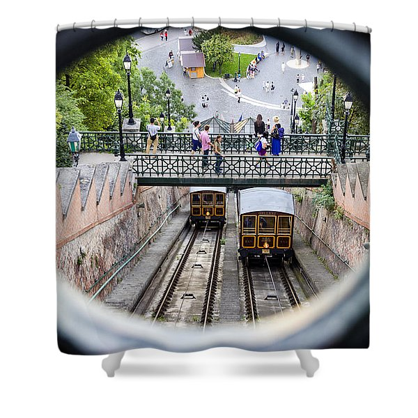 Budapest Castle Hill Funicular Shower Curtain