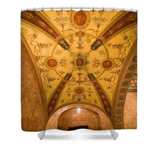 Budapest Opera House Foyer Ceiling Shower Curtain