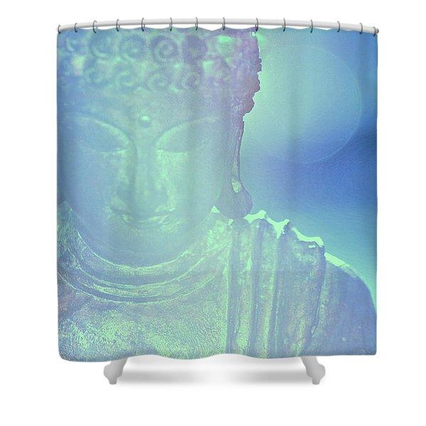 Buddah Bokeh Shower Curtain