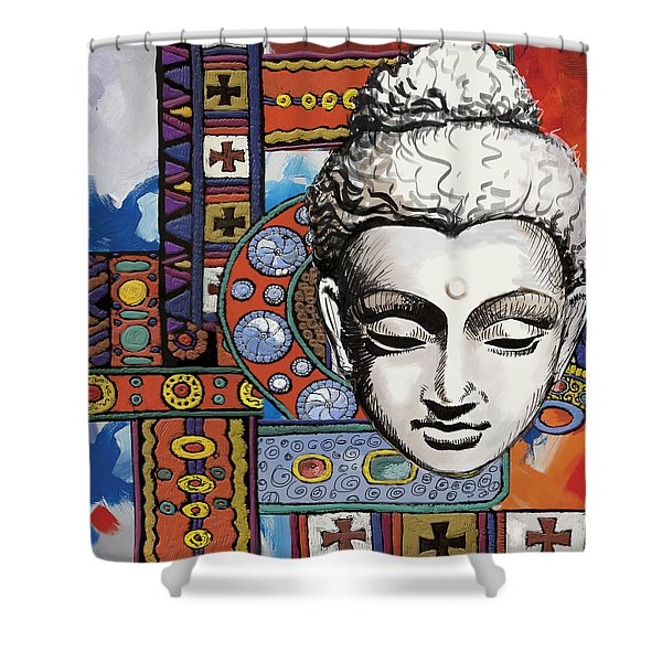 Buddha Tapestry Style Shower Curtain