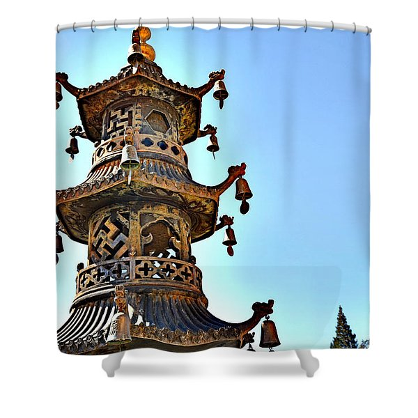 Buddhist Bells Shower Curtain