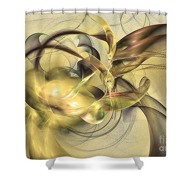 Budding Fruit - Abstract Art Shower Curtain