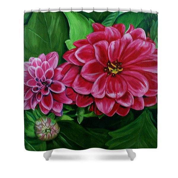 Buds And Blossoms Shower Curtain