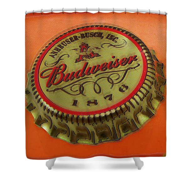 Budweiser Cap Shower Curtain