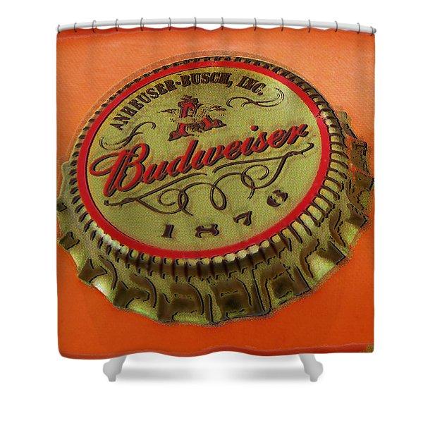 Budweiser Cap Shower Curtain