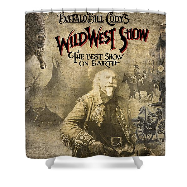 Buffalo Bill Wild West Show Shower Curtain