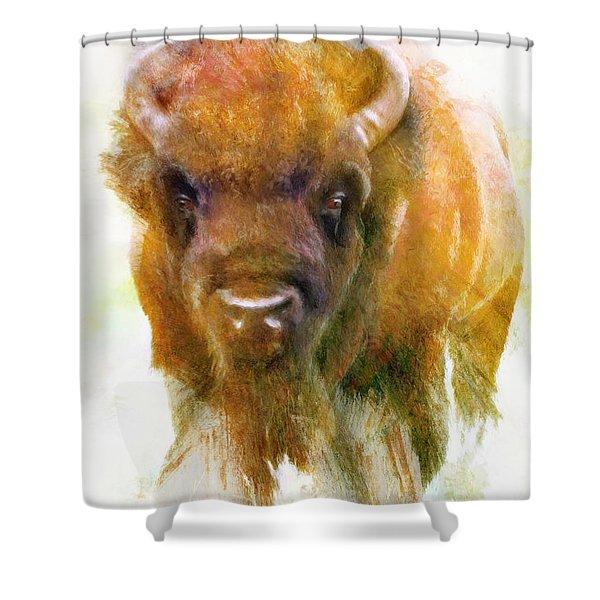 Da176 Buffalo II Daniel Adams Shower Curtain