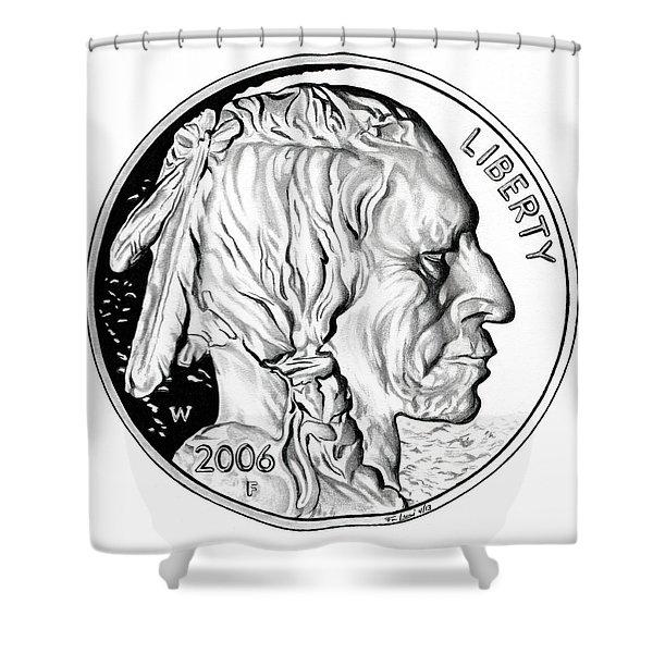 Buffalo Nickel Shower Curtain